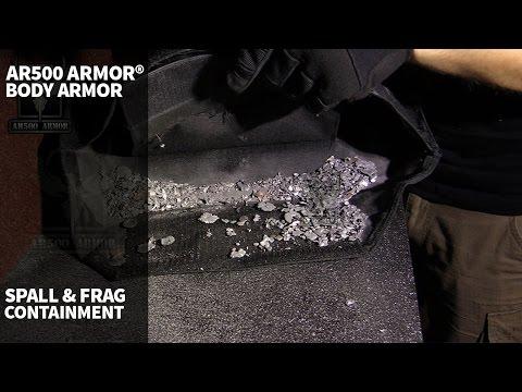 AR500 Armor® Body Armor Spall & Frag Test in Plate Carrier