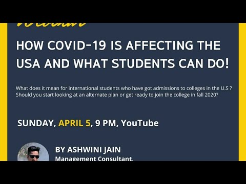 How COVID-19 is affecting the USA and what students can do?