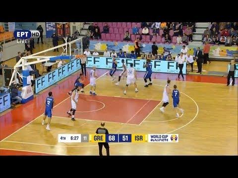 Ελλάδα - Ισραήλ 82-61 Highlights HELLAS vs Israel | Προκριματικά Π.Κ. 2019 {27.11.2017}