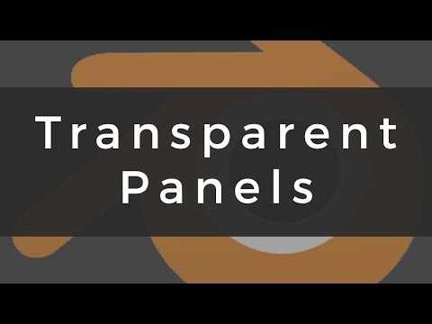 Blender: Transparent Panels