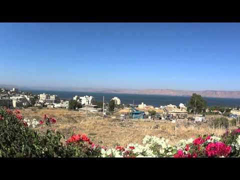 Observation on the Sea of Galilee and the Golan Heights from Tiberias, Israel