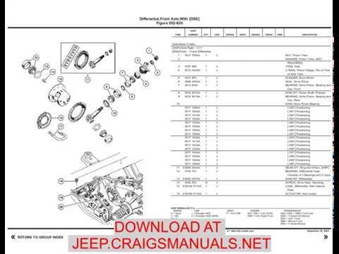 2003 Jeep Wrangler TJ Parts Catalog