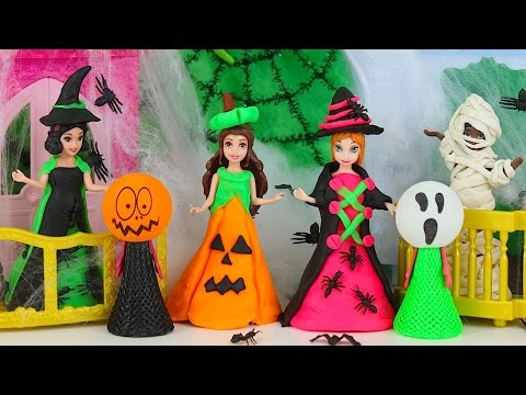 Thumbnail: Play Doh Disney Princess Magic Clip Dolls Play Doh Design Dress Frozen Anna