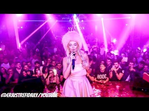 """Era Istrefi - Performs Bonbon/Njo Si Ti at """"Avalon Club"""""""