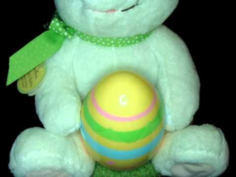 HALLMARK Plush Singing Animated ROCKIN RABBIT Easter Bunny Chick Sings w/ TAG