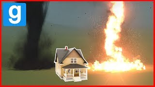 NATURAL DISASTERS VS HOUSES CHALLENGE! - Garry's mod Sandbox