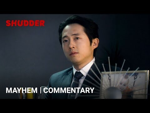 Mayhem (A Shudder Exclusive) - Joe Lynch/Steven Yeun Commentary Clip #1