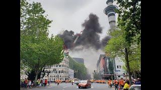 SkyCity fire: Black smoke billows from convention centre blaze