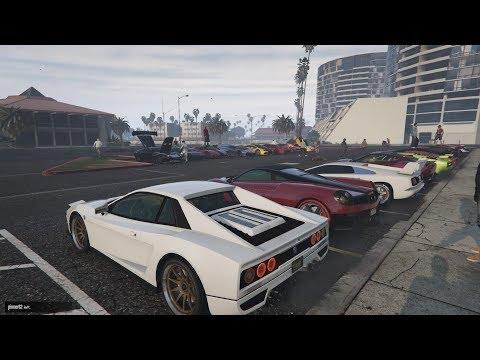 GTA 5 - Italian Car Meet PS4 and Regular Racing