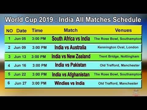 Pick the world cup schedule time table 2019 india pdf