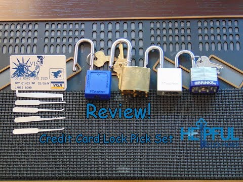 [56] James Bond Credit Card Lock Pick Set Review