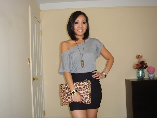 ♥ How to: DIY Valentino Inspired Studded Leopard Print Clutch & OOTD/OOTN ♥