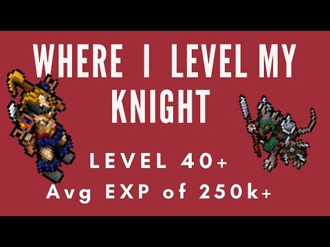 Tibia, Where To Solo PG A Lvl 40+ Knight