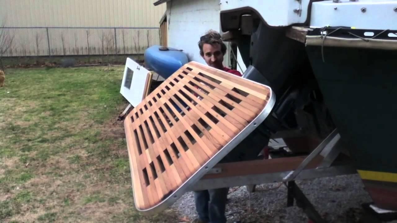 Hobo swim deck youtube for How to make a decking platform