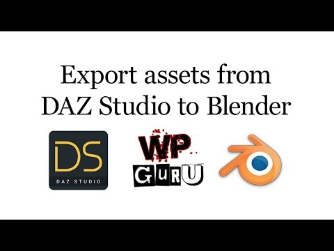 Exporting assets from DAZ Studio to Blender (and back)