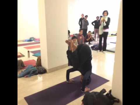 tripod headstand to bakasana jump back  youtube