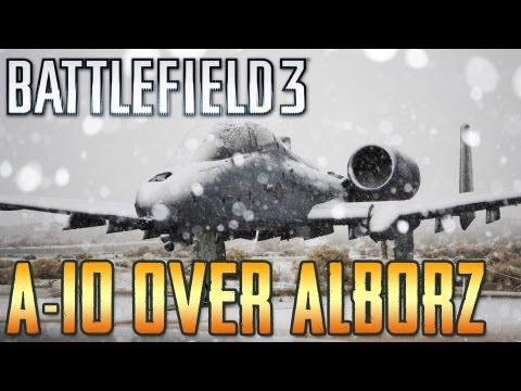 Battlefield 3: A-10 Warthog gameplay on Alborz Mountain Rush