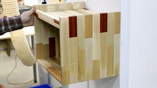 Полки из торцевых обрезков. Shelves made of short scraps.