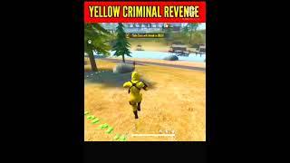yellow criminal vs 2 pro player 😈   fist vs gun fight challenge 🏴☠️ #freefire #shorts #shortvideos