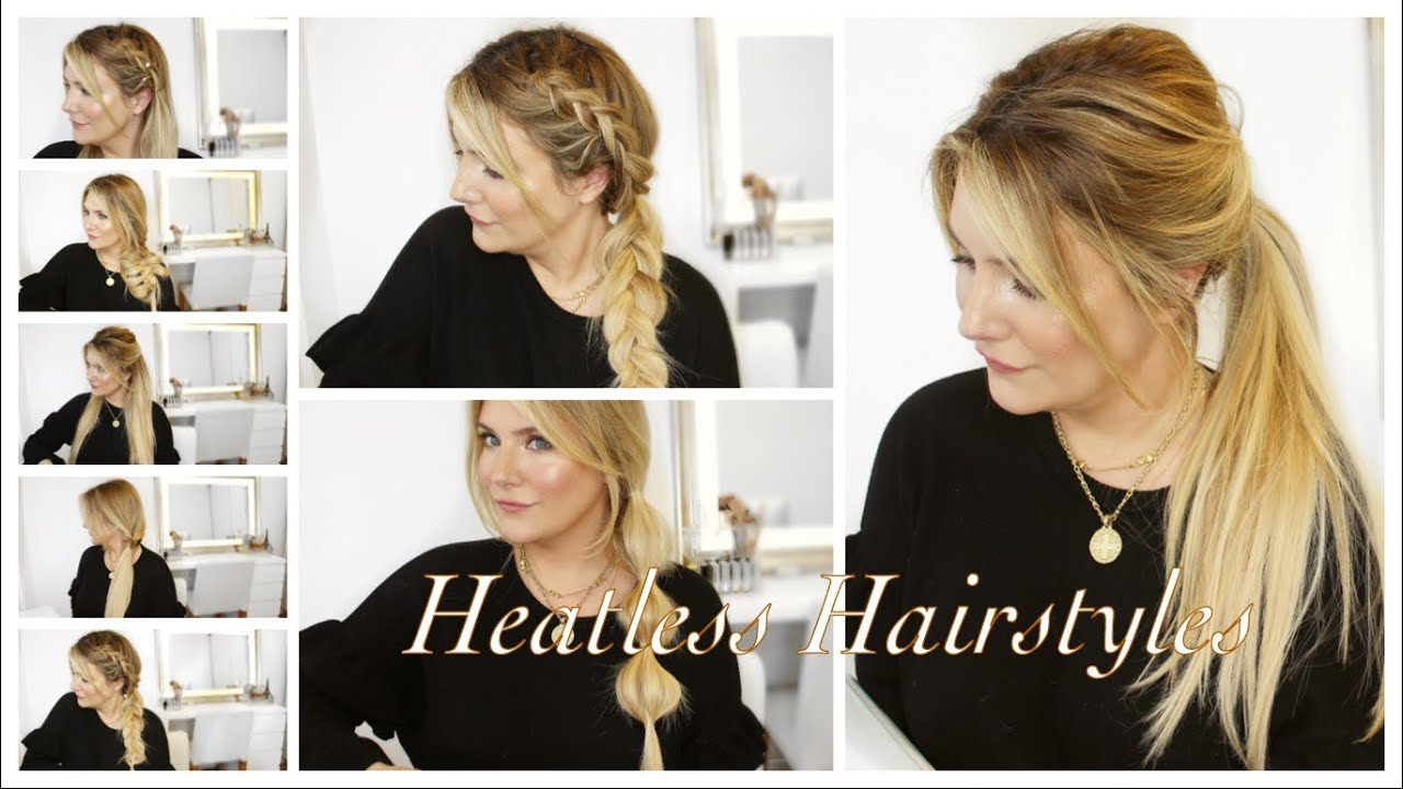 15 Heatless Hairstyles For Damaged Hair Beginner Friendly Ageless Fabfriday Youtube