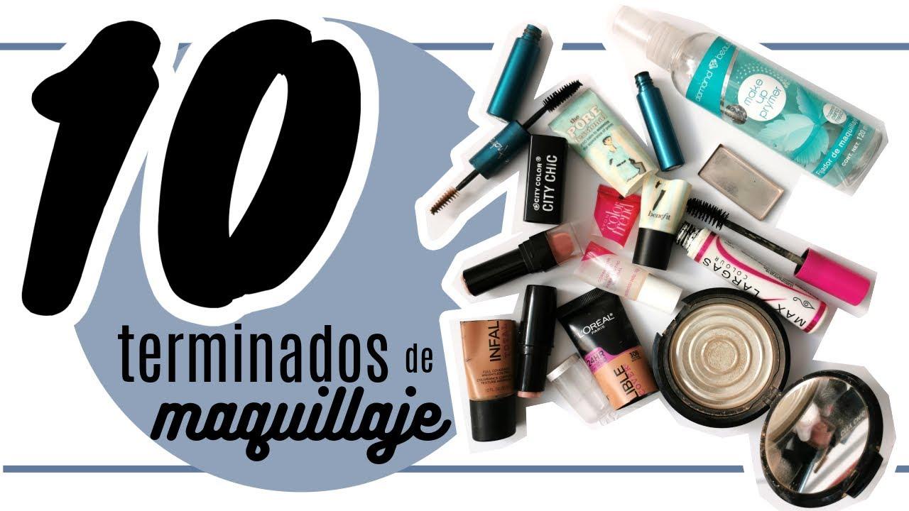 10 PRODUCTOS TERMINADOS DE MAQUILLAJE VOL. 9 || Clan de Belleza