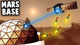 SPACE FORT BATTLE - Top SECRET Mission to Mars!  (Forts Multiplayer Gameplay)