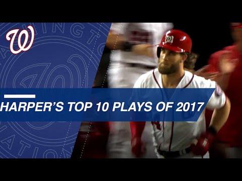 Bryce Harper\'s Top 10 Plays of 2017