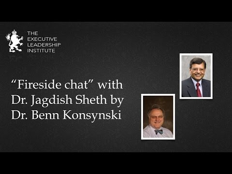"""Fireside Chat"" with Dr. Jagdish Sheth by Dr. Benn Konsynski"