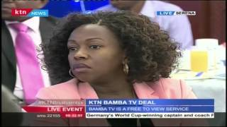 Radio Africa Group CEO Patrick Quarcoo's speech during the launch of a deal between KTN and Bamba TV