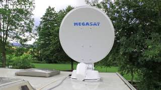 автоматическая спутниковая антенна НТВ-Плюс / Триколор для дома на колесах
