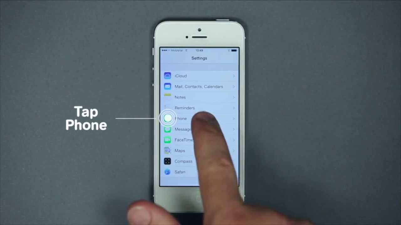 How to configure and use Call Forwarding with iOS ...