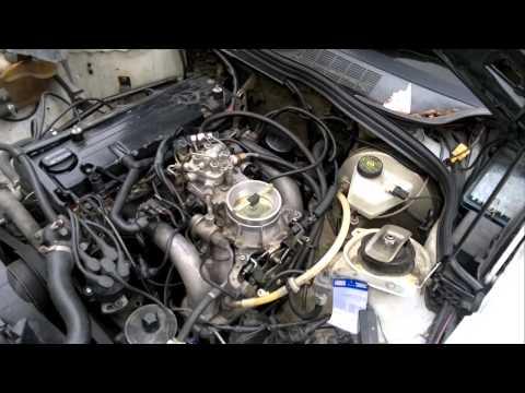 Unruhiger Motorlauf Mercedes M102 1,8 Video I
