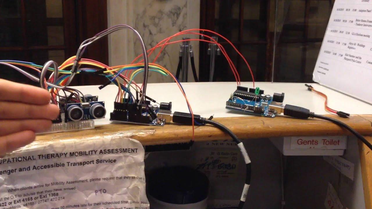 arduino master writer slave receiver ultrasonic sensors arduino master writer slave receiver ultrasonic sensors