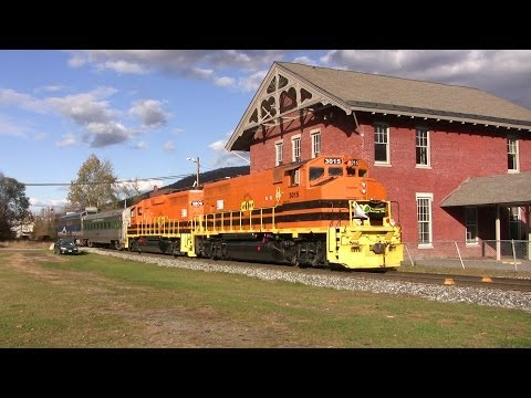 New England Central Freight And Passenger Trains - Summer And Fall 2013