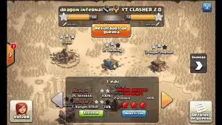 ataque con dragones eléctricos clash of clans