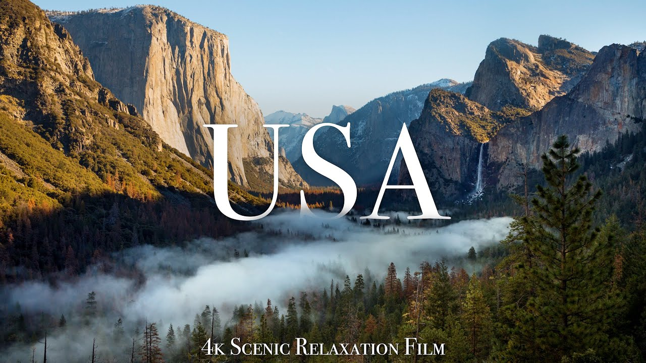 Download The USA 4K - Scenic Relaxation Film With Calming Music
