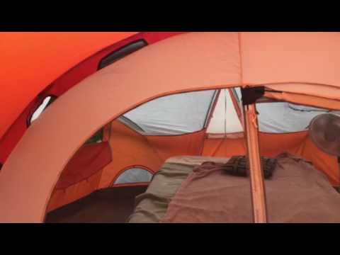 Coleman bayside 8 person tent review & Coleman bayside 8 person tent review - YouTube