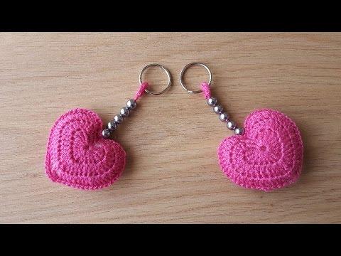 Amigurumi Anahtarlık Yapımı : Kalpli anahtarlık yapımı kendin yap diy youtube