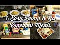 6 DUMP & GO CROCK POT MEALS | SUPER QUICK & EASY CROCK POT RECIPES