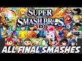 Super Smash Bros 4  Wii U 3DS    ALL FINAL SMASHES  51 TOTAL