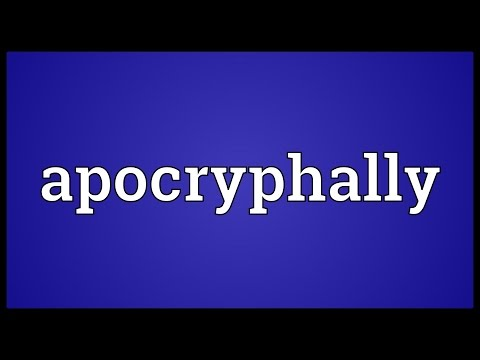 Header of apocryphally