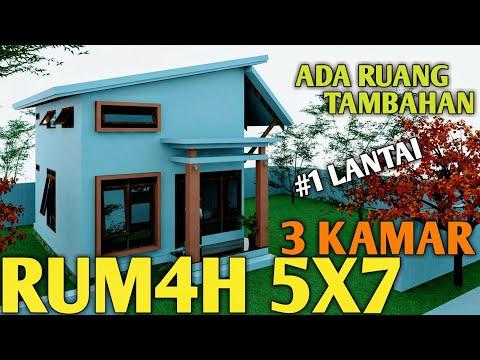 Desain Rumah Minimalis 5x7 3 Kamar Rumah 5x7 Sederhana Rumah Minimalis Ukuran 5x7 Youtube