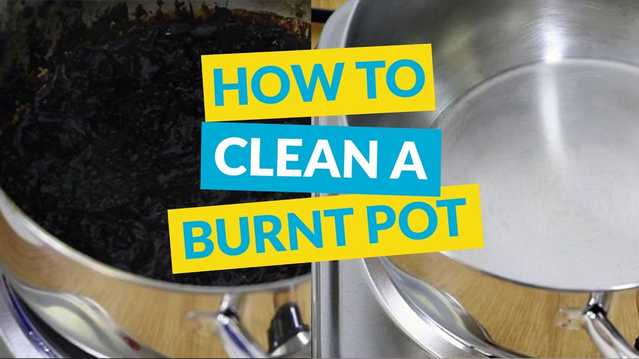 How To Clean A Burnt Pot Or Pan Without Chemicals Youtube