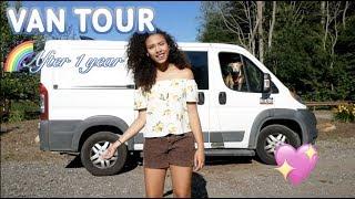 VAN TOUR AFTER 1 YEAR 🚐 | solo female fulltime traveler + pitbull