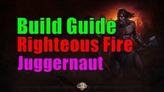 [3.0] Build Guide - Righteous Fire, Juggernaut, Lab Farmer - Path of Exile Harbinger [german]