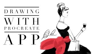 How to Draw In Procreate App Fashion Illustration with Pencil from Paper 53