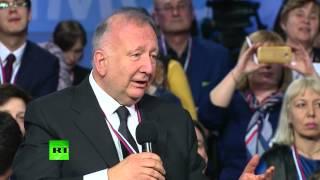 Владимир Путин поработал переводчиком на медиафоруме ОНФ