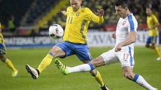 Přípravné utkání Česko - Švédsko 2016  1:1