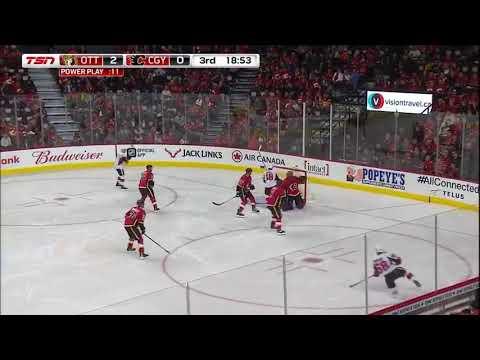 Ottawa Senators vs. Calgary Flames 10-13-17 Mike Hoffman PP GOAL
