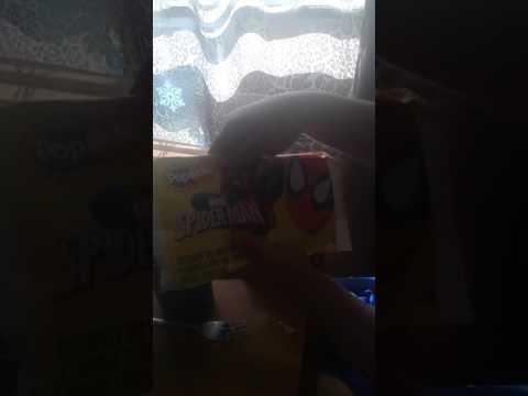 SpongeBob and Spider-Man ICE CREAM POPSICLE STICKS FROM ICE CREAM TRUCK